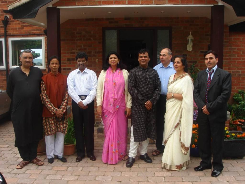 zKavi Sammelan 2007 from left Madhup Mohta poet Rajesh Reddy Sarita Sharma Aalok Srivastav Dr Verma Jai Rakesh Dube. jpg - Web