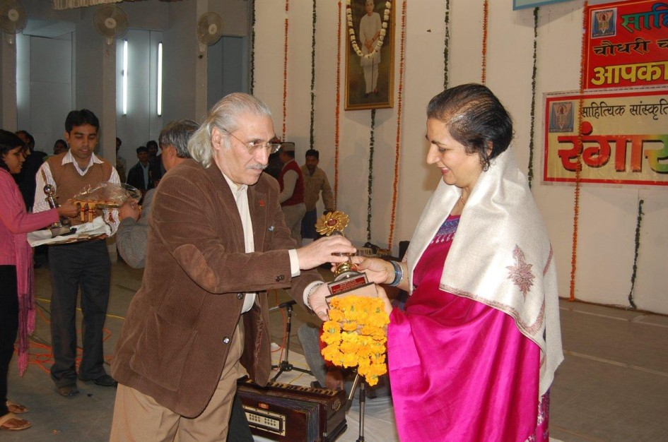 Jai Awarded By Mr Kak VC Meerut University - 2009