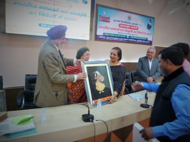 Jai Verma was honoured at Kuruchetra University Haryana
