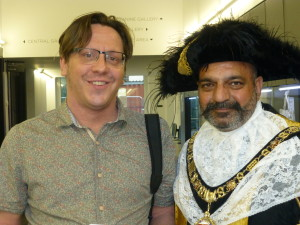 The Lord Mayor with Matt Turpin from Nottingham City of Literature.